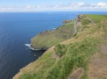 Trail along the cliffs of Moher